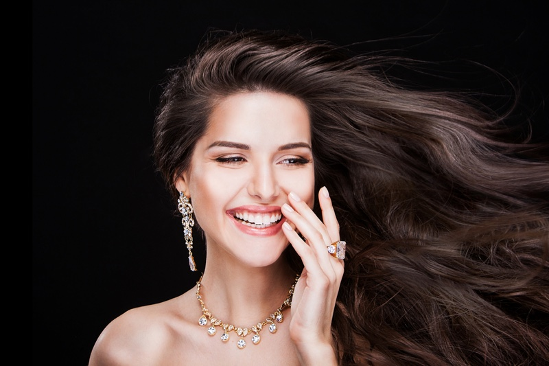 fashion statement with rings and earrings