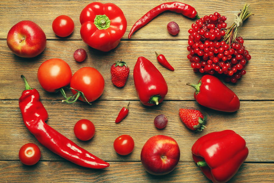 red coloured foods